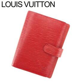 【中古】 ルイ ヴィトン LOUIS VUITTON 手帳カバー カード入れ×3 レディース メンズ アジェンダPM エピ レッド エピレザ- 人気 セール L2707 .