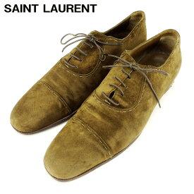 【中古】 サンローラン SAINT LAURENT ローファー シューズ 靴 メンズ #43 グリーン スエード Q586 .