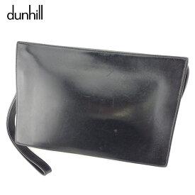 【中古】 ダンヒル dunhill クラッチバッグ セカンドバッグ レディース メンズ ブラック プレゼント バック ブランド 人気 収納 在庫一掃 1点物 兼用 男性 女性 良品 夏 T8910