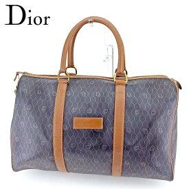 【中古】 ディオール Dior ボストンバッグ 旅行用バッグ ヴィンテージディオール レディース メンズ ブラック ブラウン クリスマス プレゼント バック ブランド 人気 収納 在庫一掃 1点物 兼用 男性 女性 良品 T9542 .