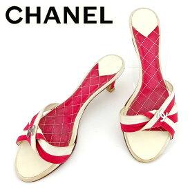 889cf8795346 【中古】 シャネル CHANEL ミュール シューズ 靴 レディース ♯37ハーフC サンダル ココマーク