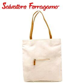 【中古】 サルヴァトーレ フェラガモ トートバッグ ワンショルダー ピンク ブラウン レザー Salvatore Ferragamo G1405 ブランド