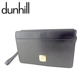 【中古】 ダンヒル クラッチバッグ バック セカンドバッグ バック dマークプレート ブラック ゴールド レザー dunhill 【ダンヒル】 T9340 送料無料
