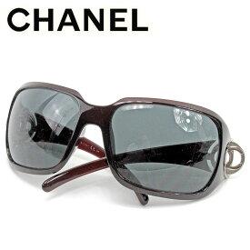 【中古】 シャネル CHANEL サングラス アイウエア レディース メンズ ココマーク ブラウン 人気 セール T9819