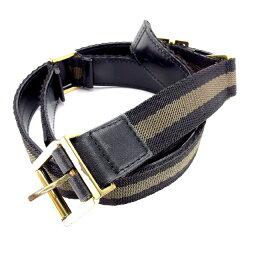 古馳GUCCI皮帶女士♯75 30尺寸雪萊線黄褐色×黑色×黄金人氣促銷Y4838。