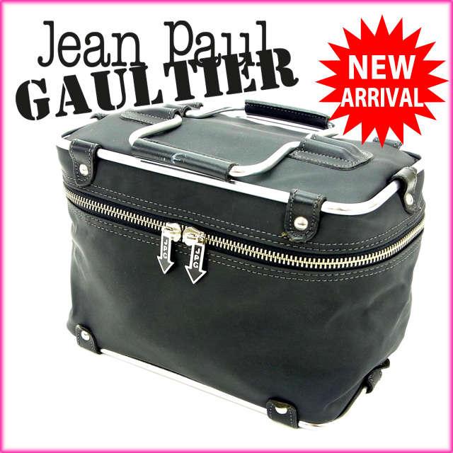 【中古】 【送料無料】 ジャンポール・ゴルチェ Jean Paul Gaultier ハンドバッグ /バニティ フレームバニティ ブラック×シルバー ナイロン×メタル (あす楽対応)(廃盤レア・美品) Y526s