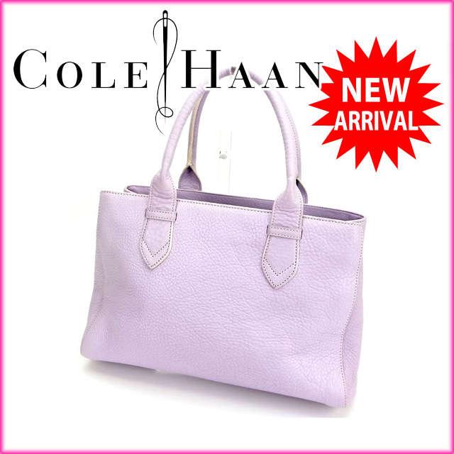 コールハーン Cole Haan トートバッグ /ハンドバッグ パープル レザー (あす楽対応)人気 良品【中古】 Y713