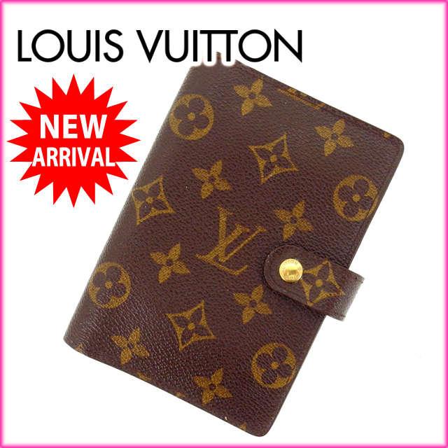 ルイヴィトン Louis Vuitton 手帳カバー カード入れ×3 メンズ可 /アジェンダPM モノグラム R20005 ブラウン PVC×レザー (あす楽対応)人気 激安【中古】 Y832