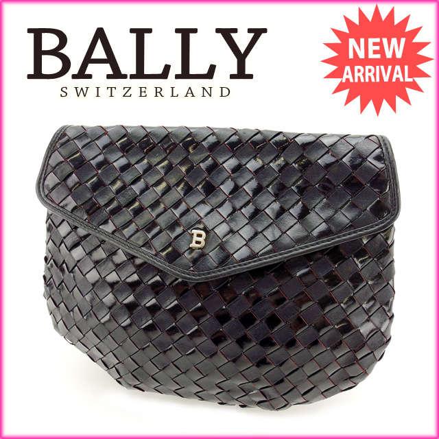 【中古】 【送料無料】 バリー BALLY クラッチバッグ 化粧ポーチ メンズ可 ブラック レザー (あす楽対応) 人気 D1271 .