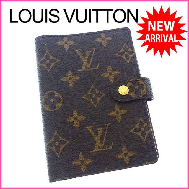 ルイヴィトン Louis Vuitton 手帳カバー カード入れ×3 メンズ可 アジェンダPM モノグラム R20005 ブラウン モノグラムキャンバス (あす楽対応)激安 セール【中古】 Y1911
