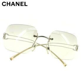 【中古】 シャネル CHANEL サングラス アイウエア レディース メンズ ココマーク グレー 灰色 シルバー 人気 セール C3518