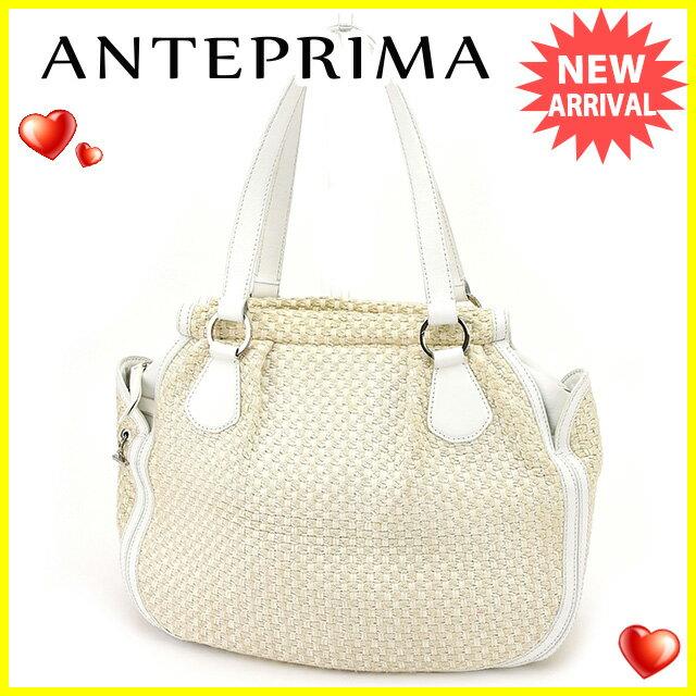 【中古】 【送料無料】 アンテプリマ ANTEPRIMA ショルダーバッグ バッグ レディース ホワイト×ベージュ 人気 良品 C2890