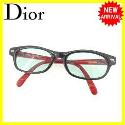 克裏斯琴迪奥Christian Dior太陽眼鏡眼鏡男女兼用全部的輪圈CD標識2133A 30清除綠色×黑色×紅派塑料(對應)人氣L886