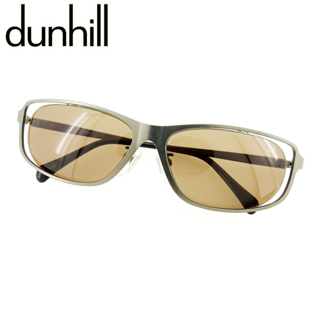 【中古】 ダンヒル dunhill サングラス アイウエア メンズ可 シルバー ブラック サングラス E1235s