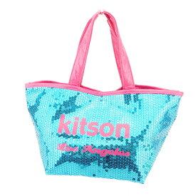 【中古】 キットソン トートバッグ バック トート ハンドバッグ バック スパンコール ブルー ピンク スパンコール×ポリエステル kitson バック 収納 ファッション バッグ バック 手持ちバッグ バック 1点物 P751