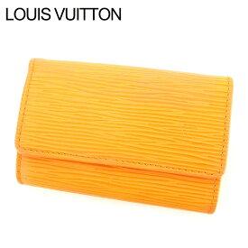 4fdf45b446ea 中古 【中古】 ルイ ヴィトン Louis Vuitton キーケース 6連 三つ折り オレンジ ミュルティクレ6 エピ レディース メンズ 可  T7548s . .