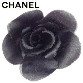 【中古】 シャネル CHANEL コサージュ ブローチ レディース カメリア ブラック コサージュ T7551s