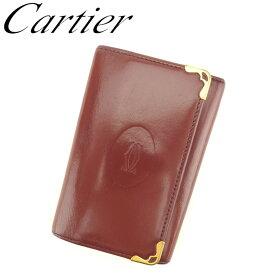 d2404d6b3ed6 【中古】 カルティエ Cartier キーケース 6連キーケース レディース メンズ マストライン ボルドー