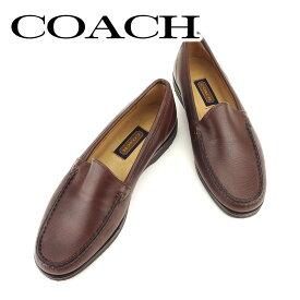 【中古】 コーチ シューズ 靴 #7 ブラウン レザーCOACH レディース プレゼント 贈り物 1点物 人気 良品 秋 迅速発送 オシャレ 大人 在庫処分 ファッション T6433