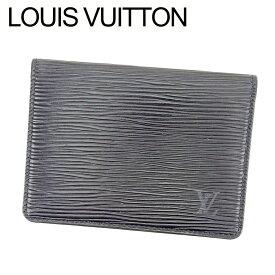 【中古】 ルイ ヴィトン LOUIS VUITTON 定期入れ パスケース M63202 エピ ブラック PVC×レザ-定期入れ T6466s