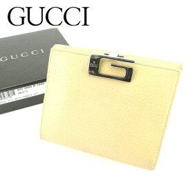e2b6a957256a 【中古】 グッチ GUCCI Wホック財布 二つ折り 財布 レディース メンズ 可 Gクリップ