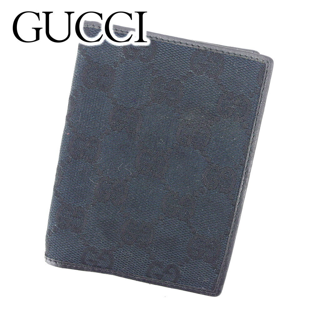 【中古】 【送料無料】 ルイ ヴィトン GUCCI カードケース 名刺入れ レディース メンズ 可 GG柄 ブラック キャンバス×レザー 人気 セール T6597