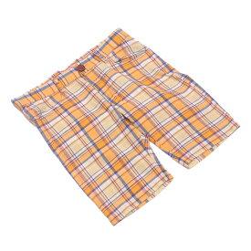 【ポイント10倍】 【中古】 TMT パンツ ハーフ チェック コットンCOTTON/100% オレンジ イエロー ネイビー系 H557