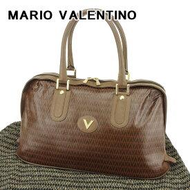 【中古】 【送料無料】 マリオ ヴァレンティノ MARIO VALENTINO ボストンバッグ 旅行用バッグ レディース メンズ 可 Vモチーフ ブラウン PVC×レザー 人気 セール T6682