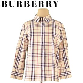 465810ce0b247d 【中古】 バーバリー Burberry ジャケット シャツ ベージュ ブラック レッド系 ♯40サイズ ノバチェック