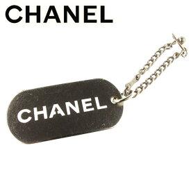 373ddc6fb286 【中古】 シャネル Chanel キーホルダー チャーム シルバー オールドシャネル ロゴプレート レディース メンズ 可 T7135s