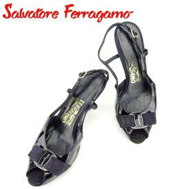 a248e0ea3953 【中古】 サルヴァトーレ フェラガモ Salvatore Ferragamo ミュール シューズ 靴 レディース #5ハーフ ヴァラリボン