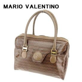 【中古】 マリオ ヴァレンティノ MARIO VALENTINO ボストンバッグ ミニボストンバッグ レディース メンズ 可 ブラウン PVC×レザーボストンバッグ T7647s
