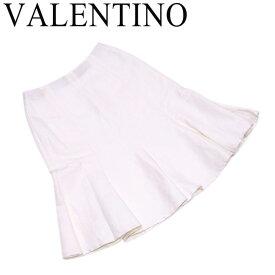 ヴァレンティノ VALENTINO スカート レディース ♯4サイズ フレアー ホワイト 白 ヘンプ41%モードル35%コットン24%(裏一部)ポリエステル100% 人気 セール 【中古】 T7416