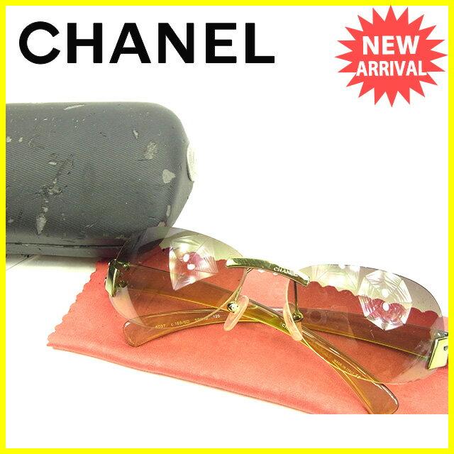 シャネル CHANEL サングラス メンズ可 ココマーク グリーン系 人気 セール 【中古】 Y5740