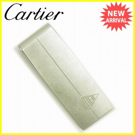 カルティエ Cartier マネークリップ レディース シルバー シルバー 良品 セール 【中古】 Y5195