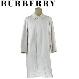 【スーパーセール】 【20%オフ】 【中古】 バーバリー コート ライナー付き ロング アウター メンズ ♯42サイズ シングル ステンカラー ベージュ コットン 綿 ポリエステル BURBERRY T19333