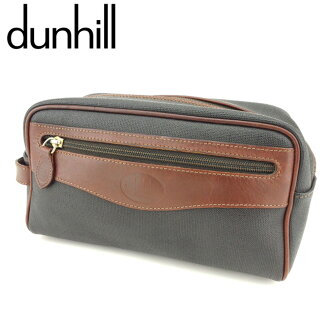 Sale T8709 which there is Dunhill dunhill clutch bag second bag bag men different fabrics combination black brown PVC X leather reason in