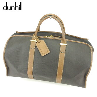 Dunhill dunhill Boston bag traveling bag Lady's men brown black PVC X leather popularity quality goods T8815