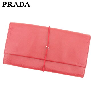 806b4998eef8 Prada PRADA clutch bag second bag Lady s men red leather beauty product sale  T9282