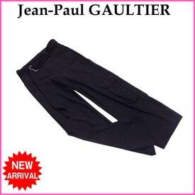 【ポイント10倍】 【中古】 ジャンポールゴルチェ パンツ /ワークポケット付き ブラック Jean-Paul GAULTIER B917