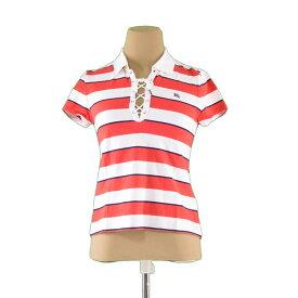 6f98a933854a95 中古 【中古】 バーバリー Burberry Tシャツ ホース刺繍 半袖 ホワイト×レッド×ネイビー ♯キッズ160Aサイズ ボーダー レディース  A800s .