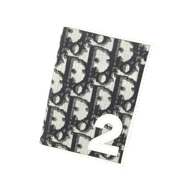 【中古】 【送料無料】 クリスチャン・ディオール Christian Dior 定期入れ パスケース メンズ可 トロッター ブラック×ホワイト PVC×レザー (あす楽対応)廃盤 レア 人気 C1809s
