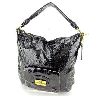 Coach handbag one shoulder bag black C2946s.