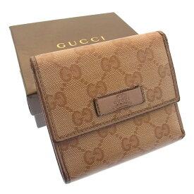 7f9a3280f35f 【中古】 グッチ Gucci 三つ折り財布 財布 コンパクトサイズ ピンク系 GGインプリメ レディース