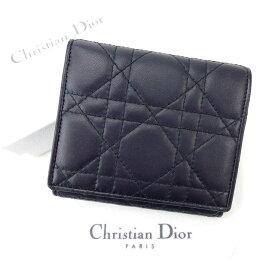 【中古】 クリスチャン ディオール Wホック財布 さいふ キルト ブラック Christian Dior ホックサイフ ホック財布 さいふ 財布 さいふ サイフ 財布 さいふ ユニセックス 小物 迅速発送 在庫処分 1点物 【ディオール】 E616
