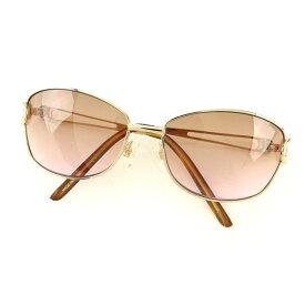 【中古】 【送料無料】 ヴァレンチノ VALENTINO サングラス メンズ可 ゴールド×ブラウン (あす楽対応)良品 人気 E807s