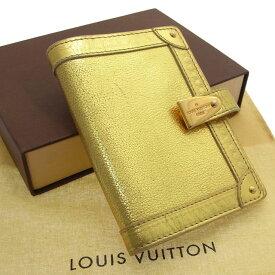 【中古】 【送料無料】 ルイヴィトン Louis Vuitton 手帳カバーレア メンズ可アジェンダ パルトネールPM スハリ オール(ゴールド) レザー F396s