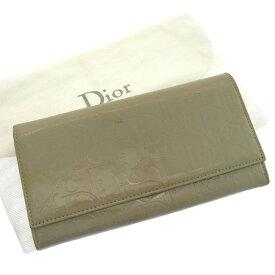 【ラスト1個】 【中古】 クリスチャン ディオール 長財布 ファスナー 二つ折り アルティメット トロッター グレー Christian Dior 【ディオール】 F629 送料無料