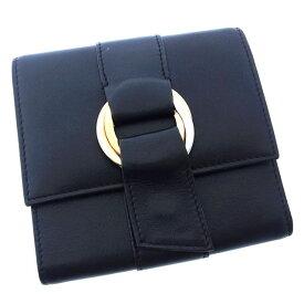 b2b12d7b4691 中古 【中古】 カルティエ Cartier 三つ折り財布 財布 コンパクトサイズ ブラック×ゴールド×ピンクゴールド×シルバー トリニティ レディース  F867s