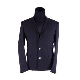 クリスチャン ディオール ジャケット 2つボタン ♯50サイズ ロゴボタン テーラード ブラック Christian Dior 【中古】 G1197